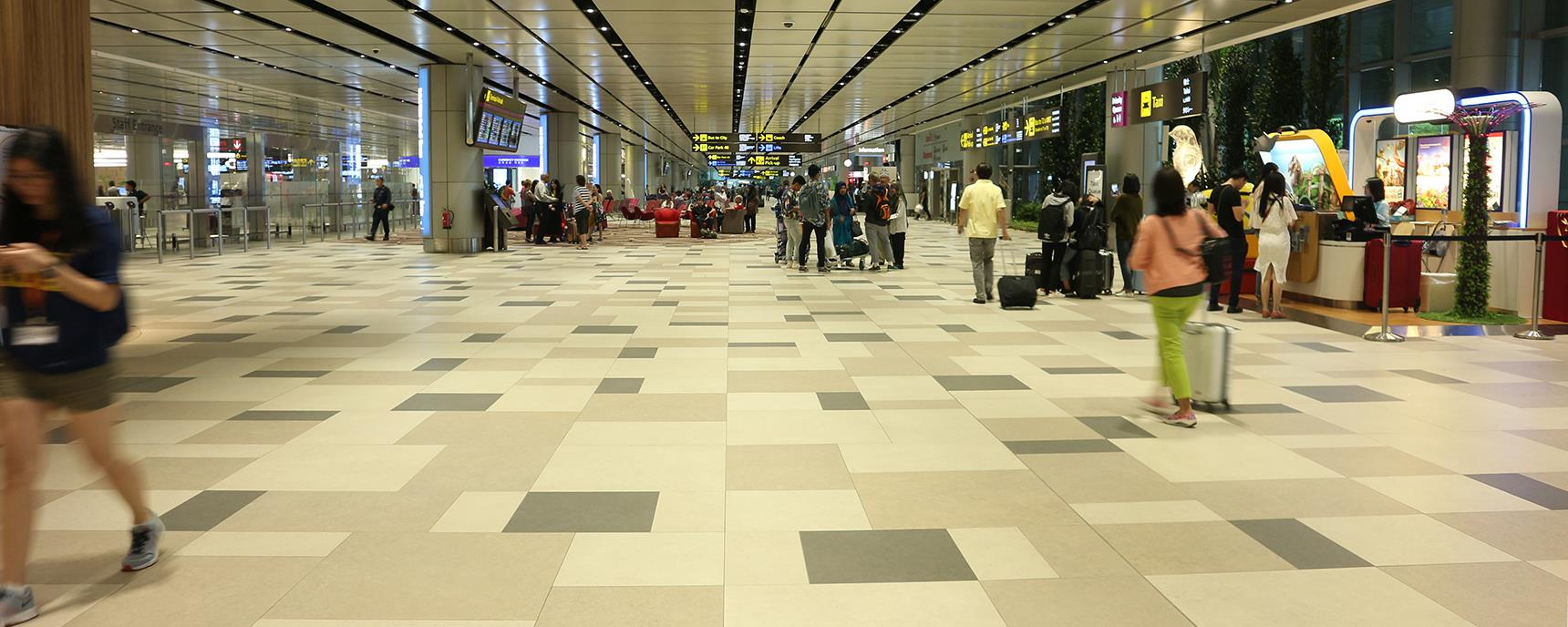 Panaria Ceramica's surfaces cover the spaces of Singapore-Changi Airport