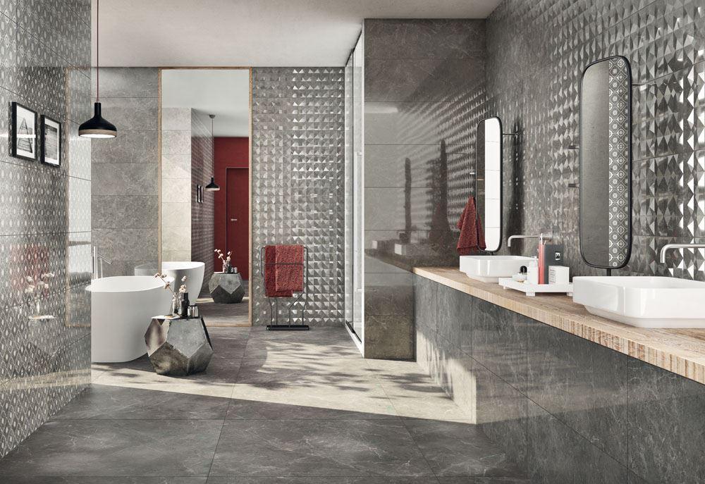 Trilogy: marble effect for an elegant bathroom